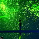 Sprinklers spray glowing neon green paint , 8 Top Neon Green Paint For Walls In Interior Design Category