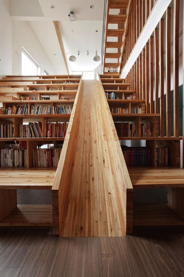 Furniture , 10 Best Staircase Bookshelves : Staircase bookshelves