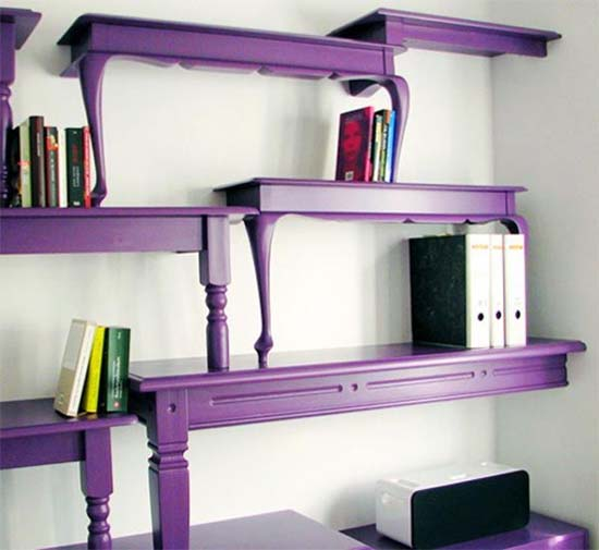 Furniture 9 Unique Bookshelf Purple Bookcase