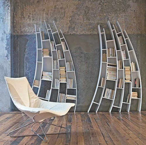 500x498px 7 Lovely Unusual Bookshelves Picture in Furniture