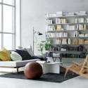 White Scandinavian Living Room , 9 Fabulous Living Room Bookshelves In Furniture Category