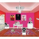 colour shades for interior walls , 6 Charming Neon Pink Wall Paint In Interior Design Category