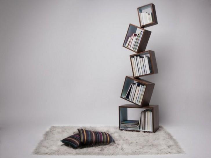 Furniture , 8 Unique Book Shelves : contemporary unique bookshelves design ideas
