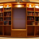 floating shelves , 10 Awesome Bookshelves With Lights In Furniture Category
