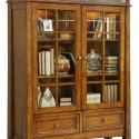 glass door bookcase , 10 Awesome Bookshelves With Lights In Furniture Category