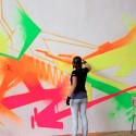 madc neon graffiti painting , 8 Good Neon Wall Paint In Interior Design Category