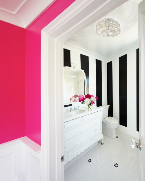 500x626px 6 Charming Neon Pink Wall Paint Picture in Interior Design
