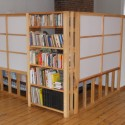 room divider with bookshelf and closet , 8 Fabulous Bookshelf As Room Divider In Furniture Category