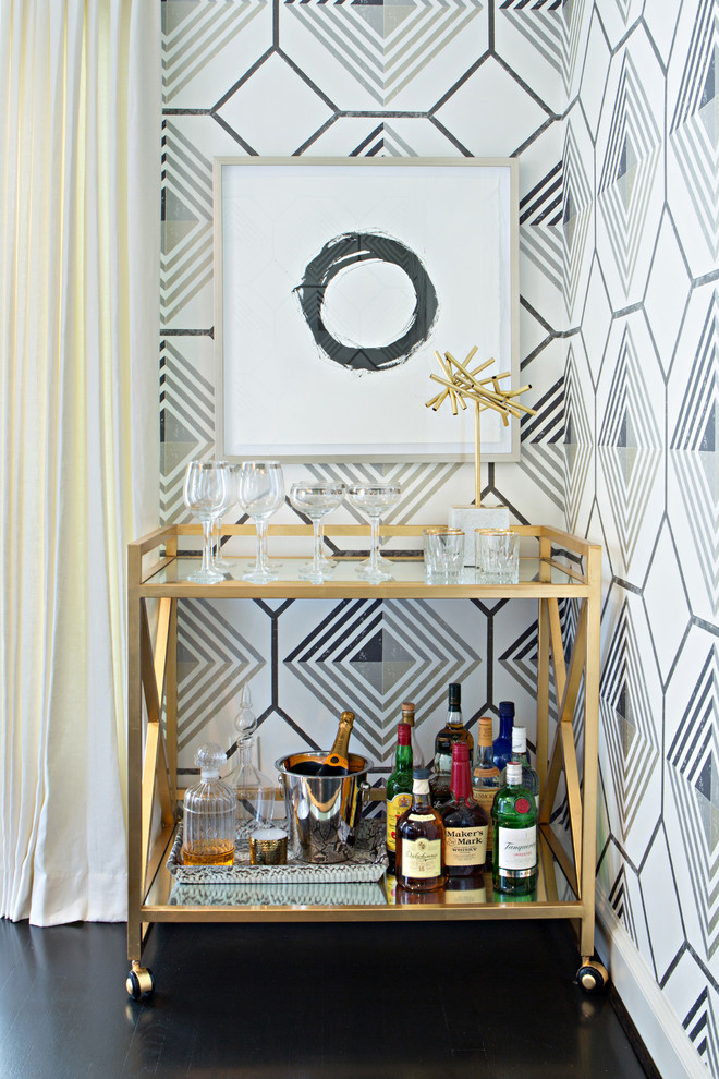 Home Bar , Cool  Contemporary Brass Bar Carts Picture : Awesome  Contemporary Brass Bar Carts Ideas