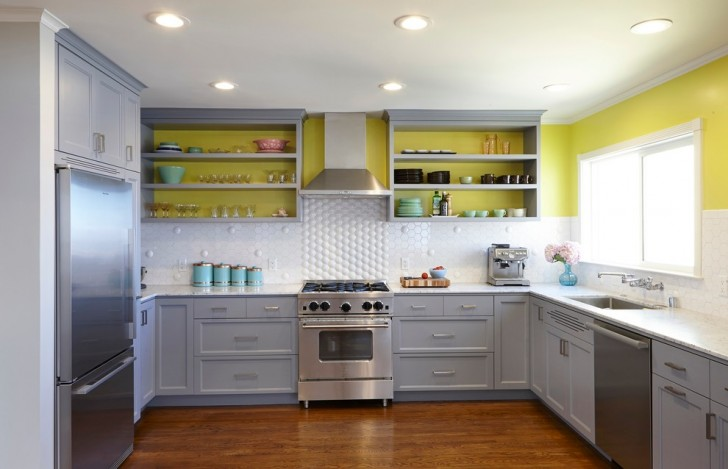 Kitchen , Lovely  Contemporary Kitchen Door Cabinets Image : Awesome  Contemporary Kitchen Door Cabinets Ideas