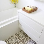 Awesome  Contemporary Tile Floor Designs for Small Bathrooms Picture Ideas , Cool  Victorian Tile Floor Designs For Small Bathrooms Image Inspiration In Powder Room Category