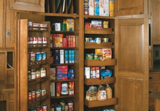 688x990px Lovely  Craftsman Small Pantry Cabinets Image Picture in Kitchen