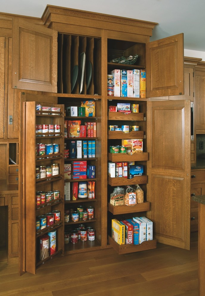 Kitchen , Lovely  Craftsman Small Pantry Cabinets Image : Awesome  Craftsman Small Pantry Cabinets Picture