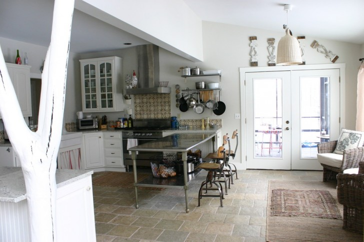 Kitchen , Charming  Eclectic Kitchen Counter Storage Solutions Picture : Awesome  Eclectic Kitchen Counter Storage Solutions Image