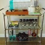 Awesome  Eclectic Nickel Bar Cart Image Inspiration , Breathtaking  Eclectic Nickel Bar Cart Photo Ideas In Spaces Category