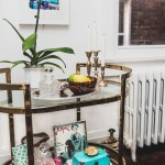 Awesome  Eclectic Old Fashioned Bar Cart Picture , Cool  Eclectic Old Fashioned Bar Cart Inspiration In Family Room Category