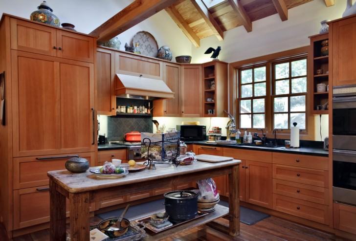 Kitchen , Cool  Farmhouse Kitchen Utility Tables Picture Ideas : Awesome  Farmhouse Kitchen Utility Tables Ideas