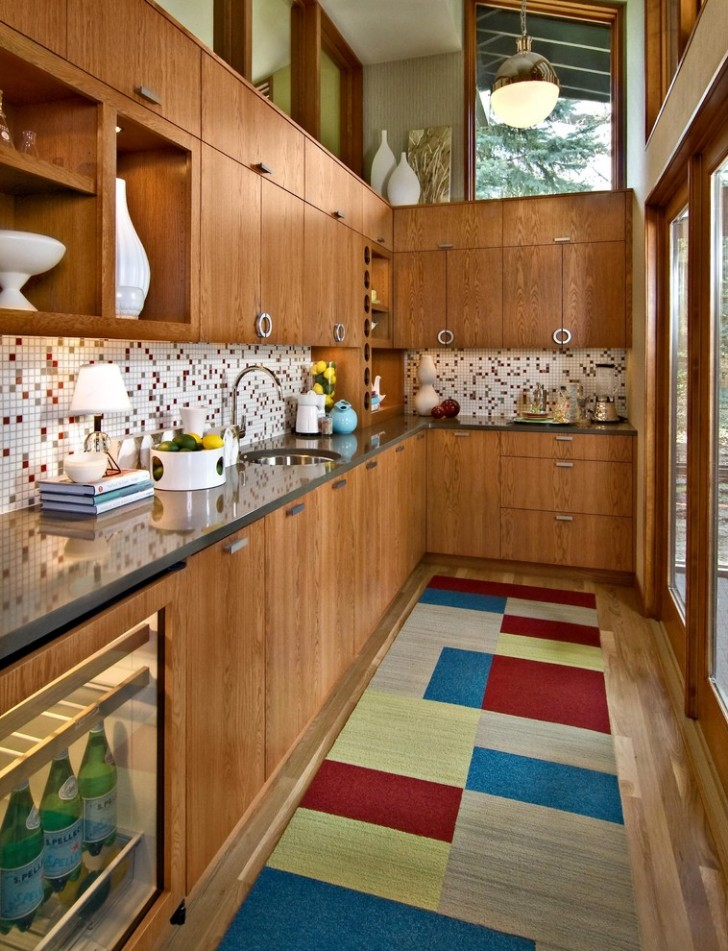 Kitchen , Breathtaking  Midcentury Cabinets For Small Kitchens Image Ideas : Awesome  Midcentury Cabinets for Small Kitchens Image
