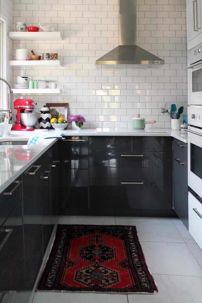Kitchen , Beautiful  Modern Ikea Kitchen White Cabinets Photo Ideas : Awesome  Midcentury Ikea Kitchen White Cabinets Inspiration