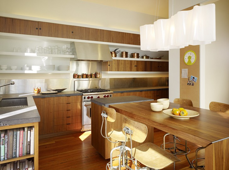 Kitchen , Fabulous  Modern Dining Table In Kitchen Picture : Awesome  Modern Dining Table in Kitchen Image Inspiration
