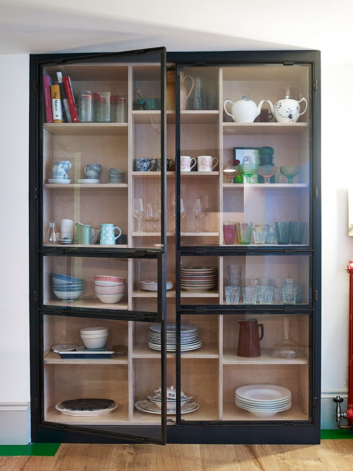 Awesome modern kitchen display cabinets image ideas for Kitchen display