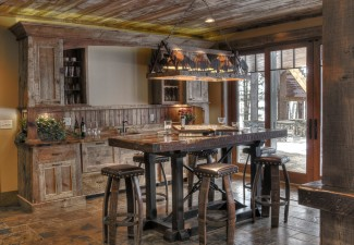 990x754px Gorgeous  Rustic Bar Table And Stool Image Picture in Home Bar