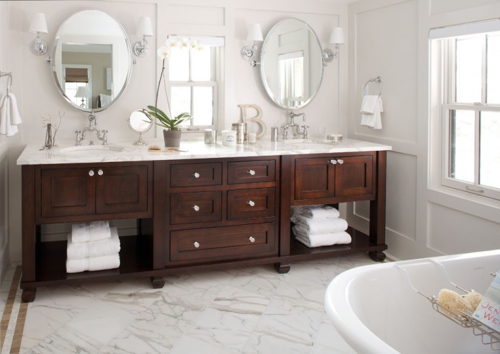 Bathroom , Lovely  Traditional Small Bathroom Vanities Lowes Photo Inspirations : Awesome  Traditional Small Bathroom Vanities Lowes Image Inspiration