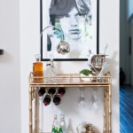 Awesome  Transitional Gold Bar Cart Picture Ideas , Wonderful  Traditional Gold Bar Cart Image Ideas In Living Room Category