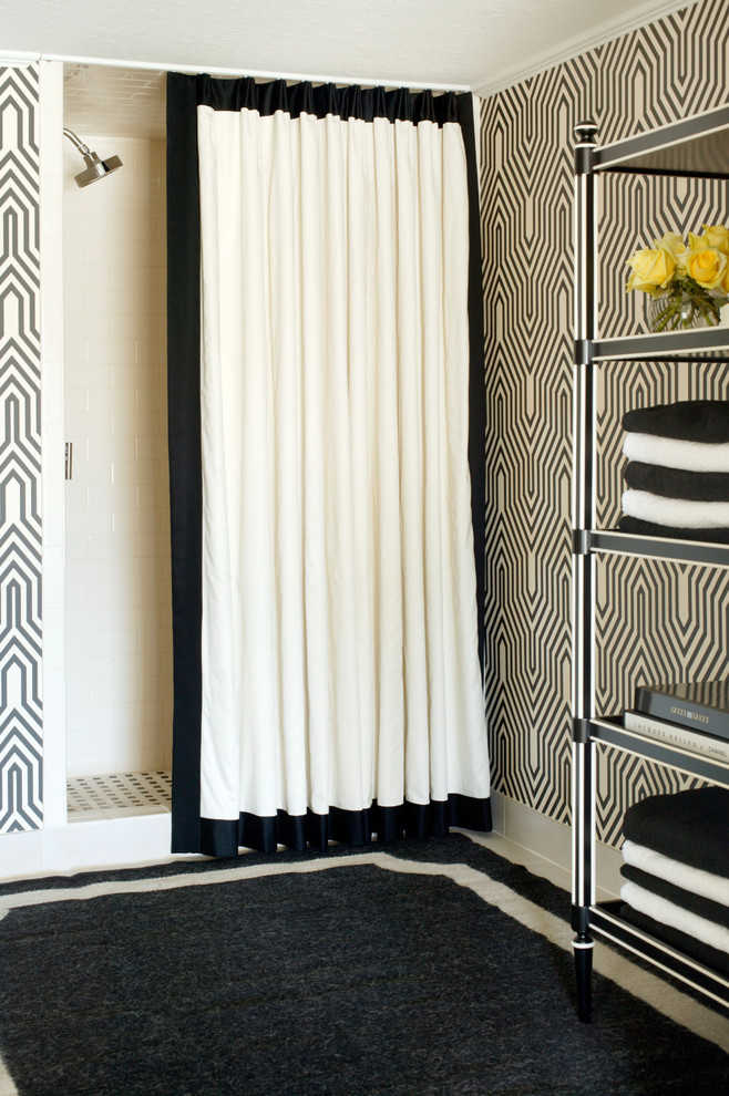 Bathroom Curtain And Rug Sets Transitional
