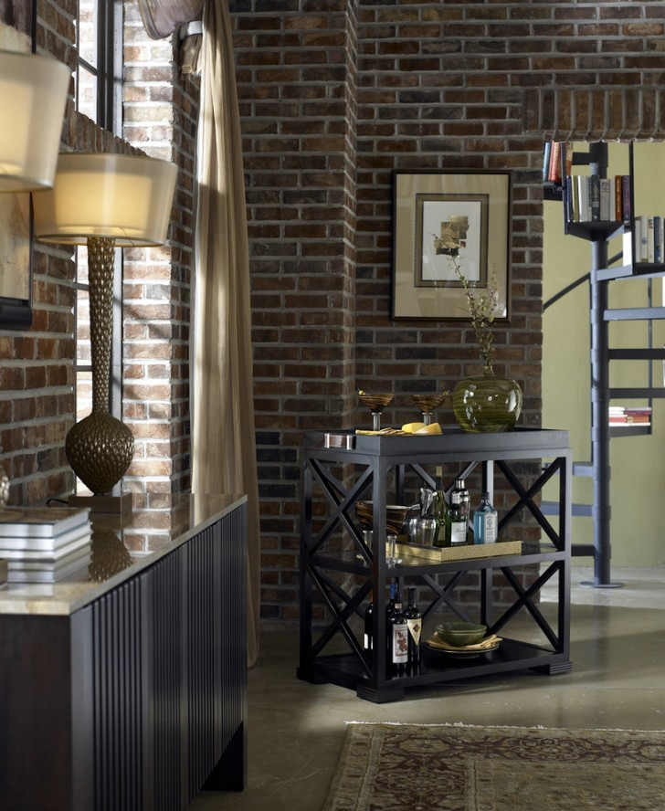 Dining Room , Charming  Contemporary Corner Bar Cart Image Ideas : Beautiful  Contemporary Corner Bar Cart Image Ideas