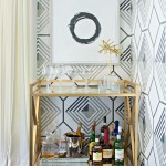 Dining Room , Charming  Contemporary Corner Bar Cart Image Ideas : Beautiful  Contemporary Corner Bar Cart Image Inspiration