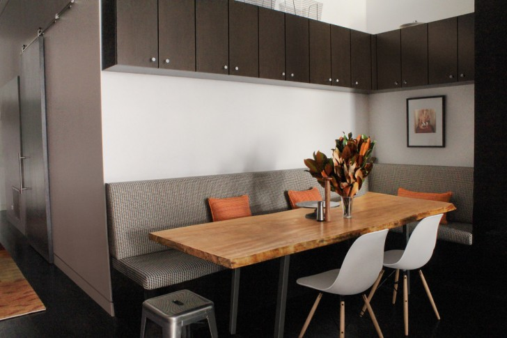 Dining Room , Charming  Contemporary Corner Kitchen Booth Image : Beautiful  Contemporary Corner Kitchen Booth Picture Ideas