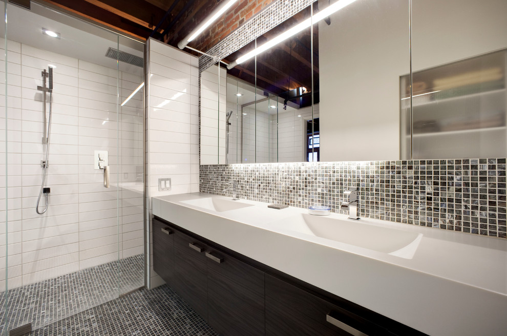 990x656px Lovely  Contemporary Solid Surface Countertop Remnants Photo Inspirations Picture in Bathroom