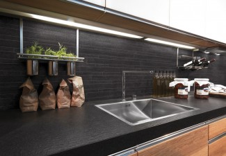 990x742px Beautiful  Contemporary Under Cabinet Pot Rack Photo Inspirations Picture in Kitchen