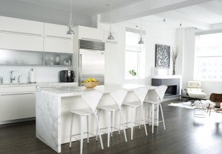 990x744px Wonderful  Contemporary White Kitchen Storage Inspiration Picture in Kitchen