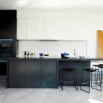 Beautiful  Contemporary White Kitchen with Black Island Picture Ideas , Beautiful  Contemporary White Kitchen With Black Island Picture Ideas In Kitchen Category