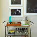 Beautiful  Eclectic Nickel Bar Cart Picture , Breathtaking  Eclectic Nickel Bar Cart Photo Ideas In Spaces Category