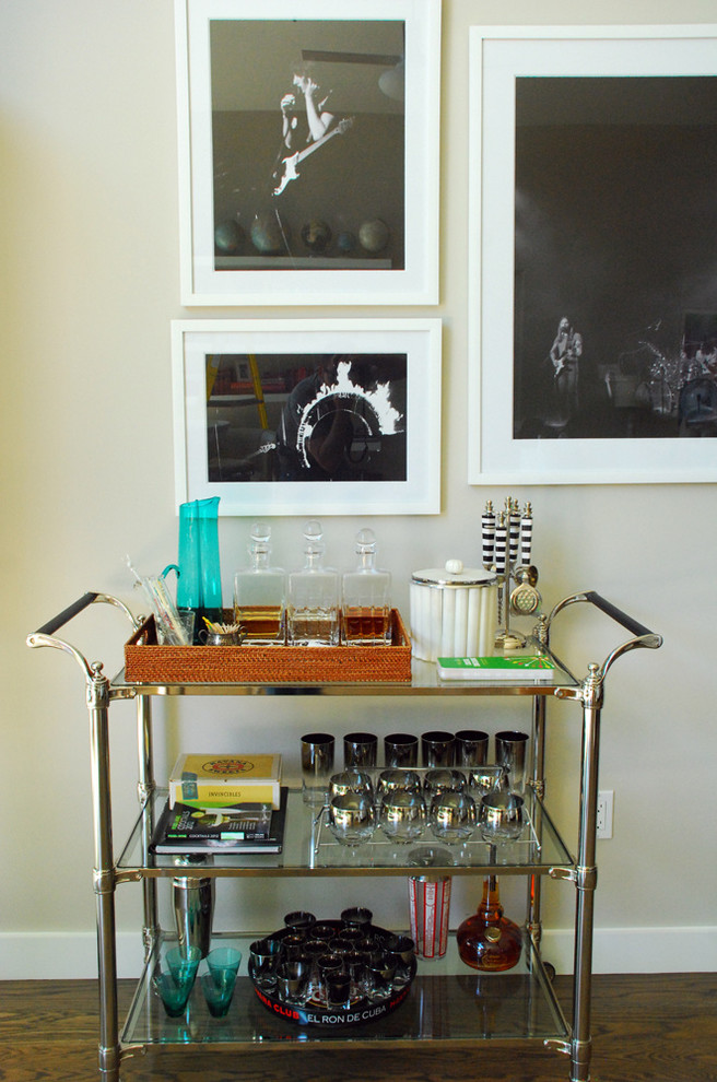 Spaces , Breathtaking  Eclectic Nickel Bar Cart Photo Ideas : Beautiful  Eclectic Nickel Bar Cart Picture
