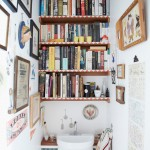 Beautiful  Eclectic Shelves for Small Bathrooms Photo Inspirations , Lovely  Eclectic Shelves For Small Bathrooms Inspiration In Powder Room Category