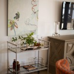 Beautiful  Farmhouse Nickel Bar Cart Picture , Breathtaking  Eclectic Nickel Bar Cart Photo Ideas In Spaces Category