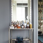 Beautiful  Industrial Mirror Bar Cart Photos , Awesome  Beach Style Mirror Bar Cart Inspiration In Dining Room Category