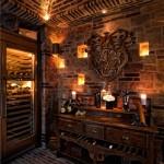 Beautiful  Mediterranean Wood Bar Cart Photo Ideas , Lovely  Traditional Wood Bar Cart Ideas In Bathroom Category