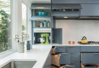 990x780px Awesome  Midcentury Kitchen Countertop Storage Solutions Photo Ideas Picture in Kitchen