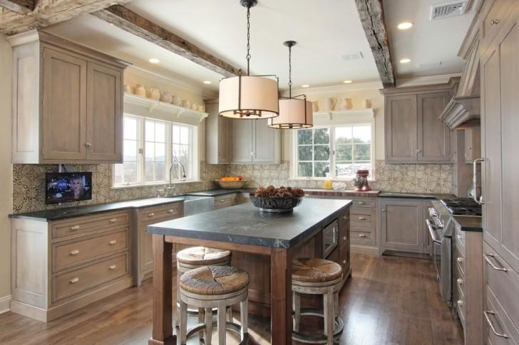 Kitchen , Beautiful  Rustic Kitchen Island Microwave Picture : Beautiful  Rustic Kitchen Island Microwave Inspiration