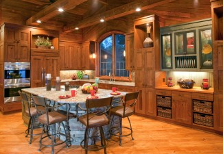 990x660px Fabulous  Rustic Kitchen Islands With Chairs Picture Ideas Picture in Kitchen