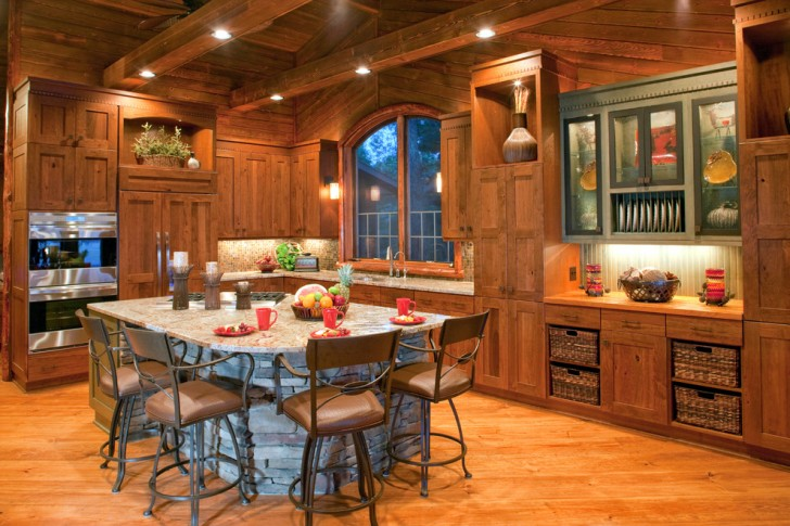 Kitchen , Fabulous  Rustic Kitchen Islands With Chairs Picture Ideas : Beautiful  Rustic Kitchen Islands with Chairs Photo Ideas