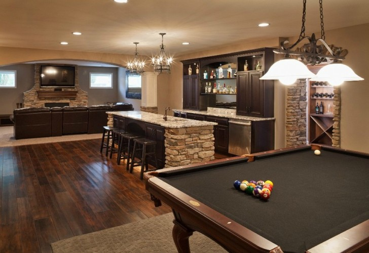 Basement , Stunning  Traditional Bar Table Kitchen Photos : Beautiful  Traditional Bar Table Kitchen Photos