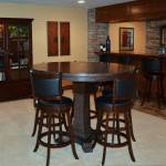 Beautiful  Traditional Pub Tables Chairs Picture , Cool  Rustic Pub Tables Chairs Image In Home Theater Category