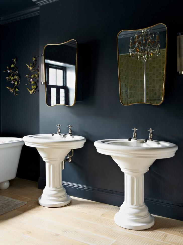 Bathroom , Breathtaking  Traditional Single Basin Double Faucet Bathroom Sink Image Inspiration : Beautiful  Traditional Single Basin Double Faucet Bathroom Sink Photo Ideas