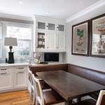 Kitchen , Fabulous  Craftsman Kitchen Dining Booth Image Inspiration : Beautiful  Transitional Kitchen Dining Booth Photo Inspirations